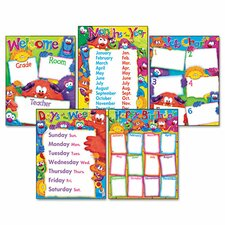 <strong>Trend</strong> Furry Friends Learning Chart Combo Pack (Set of 5)