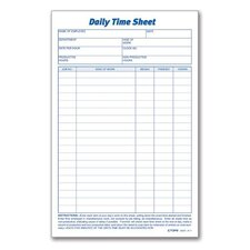 Daily Time Sheet (Set of 6)