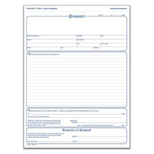 3 Part Carbonless Phantom Rule Proposal Form (Set of 1000)