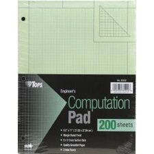 <strong>Tops</strong> 3 Hole Punched Engineering Computation Pad (Set of 24)