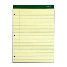 80 pt. Chip Double Docket 3 Hole Punched College Rule Legal Pad (Set of 24)