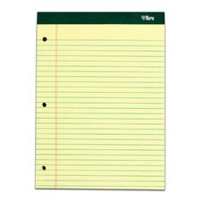 60 pt. Double Docket 3 Hole Punched Legal Rule Legal Pad (Set of 36)