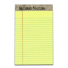 Second Nature Perforated Jr. Legal Rule Legal Pad (Set of 144)