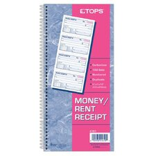 <strong>Tops</strong> 2 Part Carbonless Money/Rent Receipt Book (Set of 5)