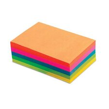 "4"" x 6"" Fluorescent Memo Sheet (Set of 500)"