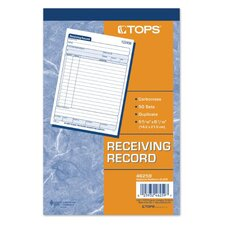 <strong>Tops</strong> 2 Part Carbonless Receiving Record Book (Set of 100)