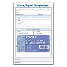 2 Part Carbonless Employee Status/Payroll Change Report (Set of 250)