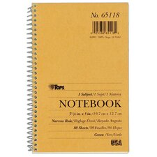 Narrow Ruled Kraft Notebook (Set of 24)