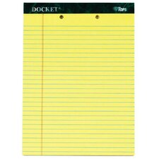 60 pt. Docket 2 Hole Punched Top Legal Rule Legal Pad (Set of 72)