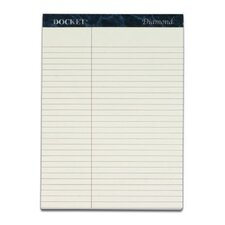 60 pt. Docket Diamond Law Ruled Premium Stationery Tablet (Set of 10)