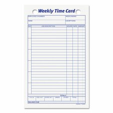 Employee Time Card (100 Pack)