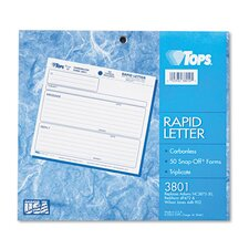 Rapid Letter Message Memos Form
