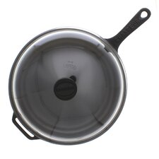 "11"" Cast Iron Frying Pan with Lid"