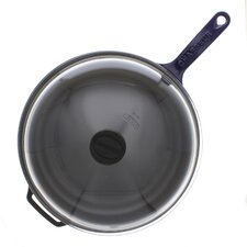 """11"""" Cast Iron Frying Pan with Lid"""