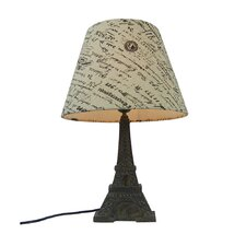 """Eiffel Tower 15.75"""" H Table Lamp with Empire Shade"""