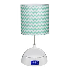 "LighTunes Bluetooth Speaker 16.54"" H Table Lamp with Drum Shade"
