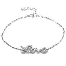 Love Word Cubic Zirconia Link Bracelet
