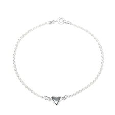 Sterling Silver 9 inches Heart Rope Anklet