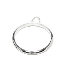 Sterling Silver Floral Engraved Baby's Bangle