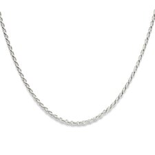 Sterling Silver 2mm Diamond-Cut Rope Chain
