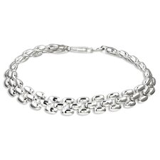 <strong>Sterling Essentials</strong> Sterling Silver 7 inches Panther Link Bracelet