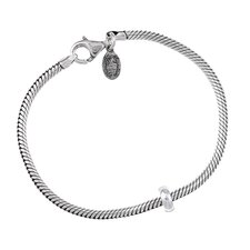 Signature Moments Sterling Silver Bead Charm Bracelet