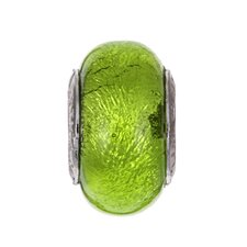 <strong>Sterling Essentials</strong> Signature Moments Sterling Silver Murano Bead in Lime Green
