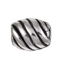 Signature Moments Sterling Silver Diagonal Bead