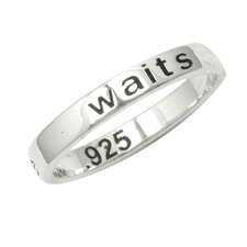 "<strong>Sterling Essentials</strong> Sterling Silver ""True Love Waits"" Ring"