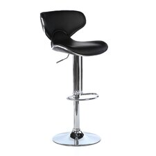Oxbow Estate Airlift Adjustable Height Bar Stool in Black