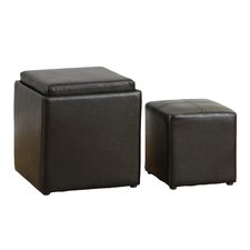 Whittier Cube Ottoman and Stool