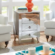 Tory Mirrored Side Table