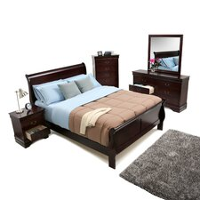 Louis Philippe 5 Piece Queen Sleigh Bedroom Collection
