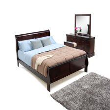 Louis Philippe 3 Piece Queen Sleigh Bedroom Collection