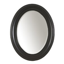 Oval Mirror in Antique Black