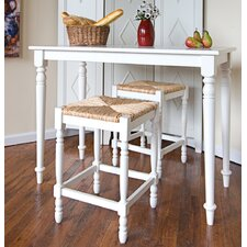 <strong>Carolina Cottage</strong> Hawthorne 3 Piece Counter Height Dining Set