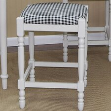 <strong>Carolina Cottage</strong> Hawthorne Stool with Distressed Antique White Frame