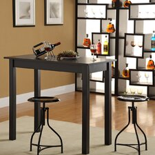 Café Bar Table with Logan Adjustable Stools