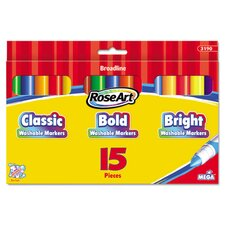 <strong>Roseart</strong> Washable Broadline Markers (15 Pack)