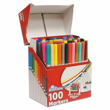 Supertip Washable Markers (100 Pack)