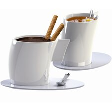 Vento Tea Cup and Saucer (Set of 2)