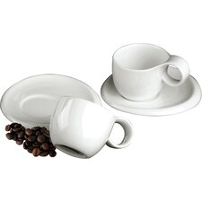 <strong>DeaGourmet</strong> Ninfea Classic Cup with Saucer (Set of 4)