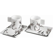 Origini Stesura Espresso Cup and Saucer (Set of 2)