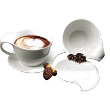 <strong>DeaGourmet</strong> Ninfea Classica Cup with Saucer (Set of 2)