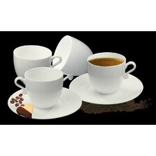 Trame Espresso Cup and Saucer (Set of 4)