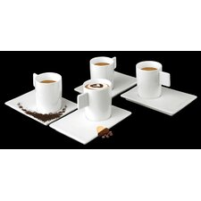 Geo Cup with Saucer (Set of 6)