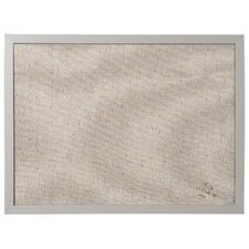 "Designer Fabric 1' 6"" x 2' Bulletin Board"