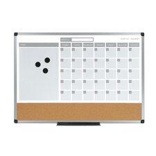 "3-In-1 Planner 1'6"" x 2' Bulletin Board"