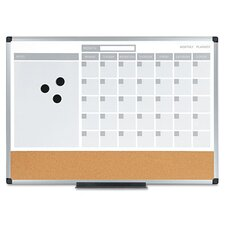 "3-In-1 Planner 1'6"" x 2' Bulletin Board"