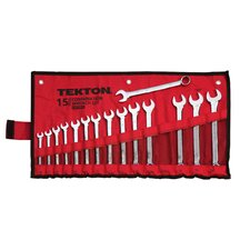 15 Piece Combination Metric Wrench Set